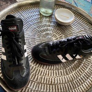 Adidas samba sneakers black leather sz 8